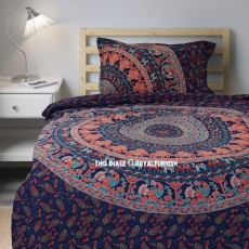 king denim floral mandala duvet boho double bedding set blue queen bedclothes sets bedroom product printing size comforter paisley bohemian cover single