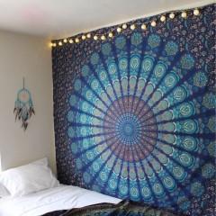 Navy blue floral bedding - Hippie Tapestries Mandala Bohemian Tapestries Amp Bedspreads Royal