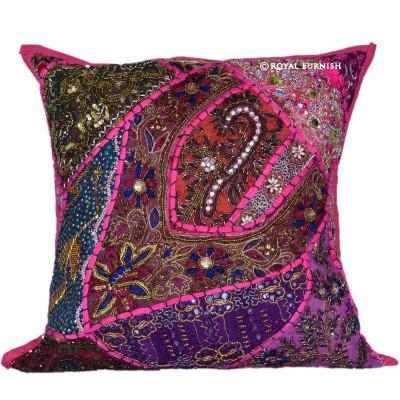 Pink Beaded Decorative Pillow : 16