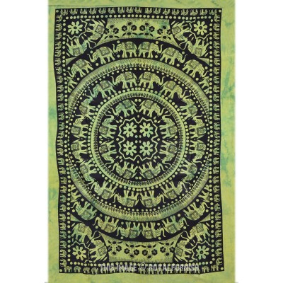 Elephant Tapestry Wall Hanging green hippie tie dye elephant tapestry wall hanging mandala