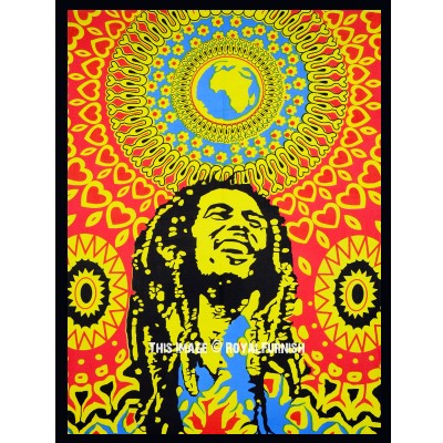 Bob Marley Poster Hippie Rasta Poster Wall Hanging Tapestry ...