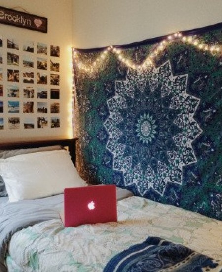 Blue Amp White Twin Indian Star Mandala Hippie Dorm Decor