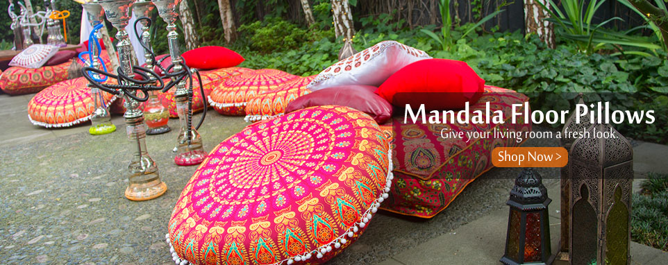 mandala floor pillows