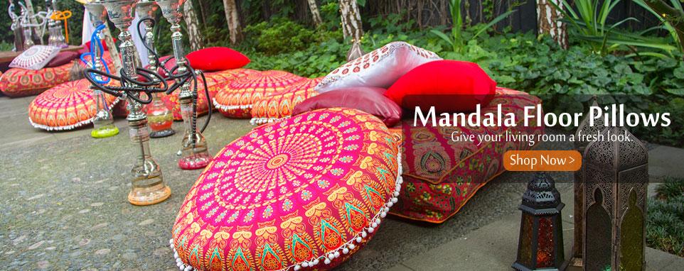 mandala floor pillows