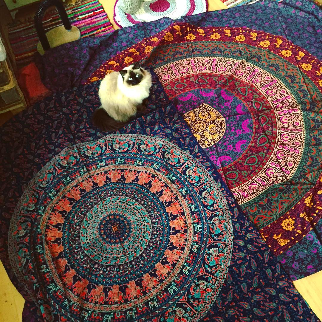 Yaaay my new mandala wall hangings from @royalfurnish has arrived 😍💕🕉✨