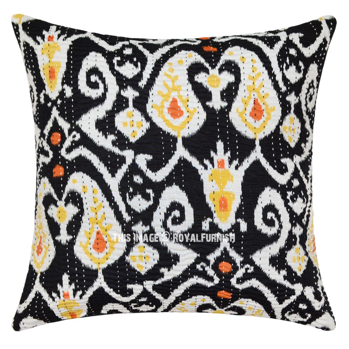 Black Cotton Throw Pillows : 16