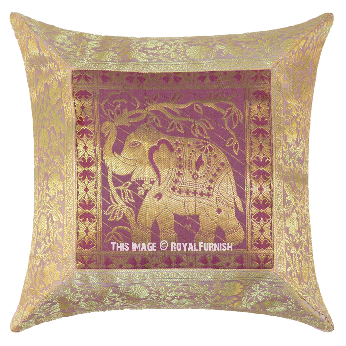 Pink Elephant Throw Pillow : 16