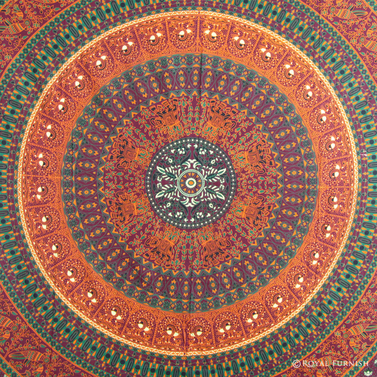 Psychedelic Indian Mandala Tapestry Throw Dorm Room Wall