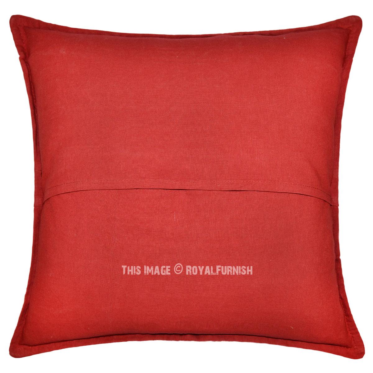 Throw Pillows Horchow : Handmade Decorative Cutwork & Patchwork Appliqued Floral Throw Pillow - RoyalFurnish.com
