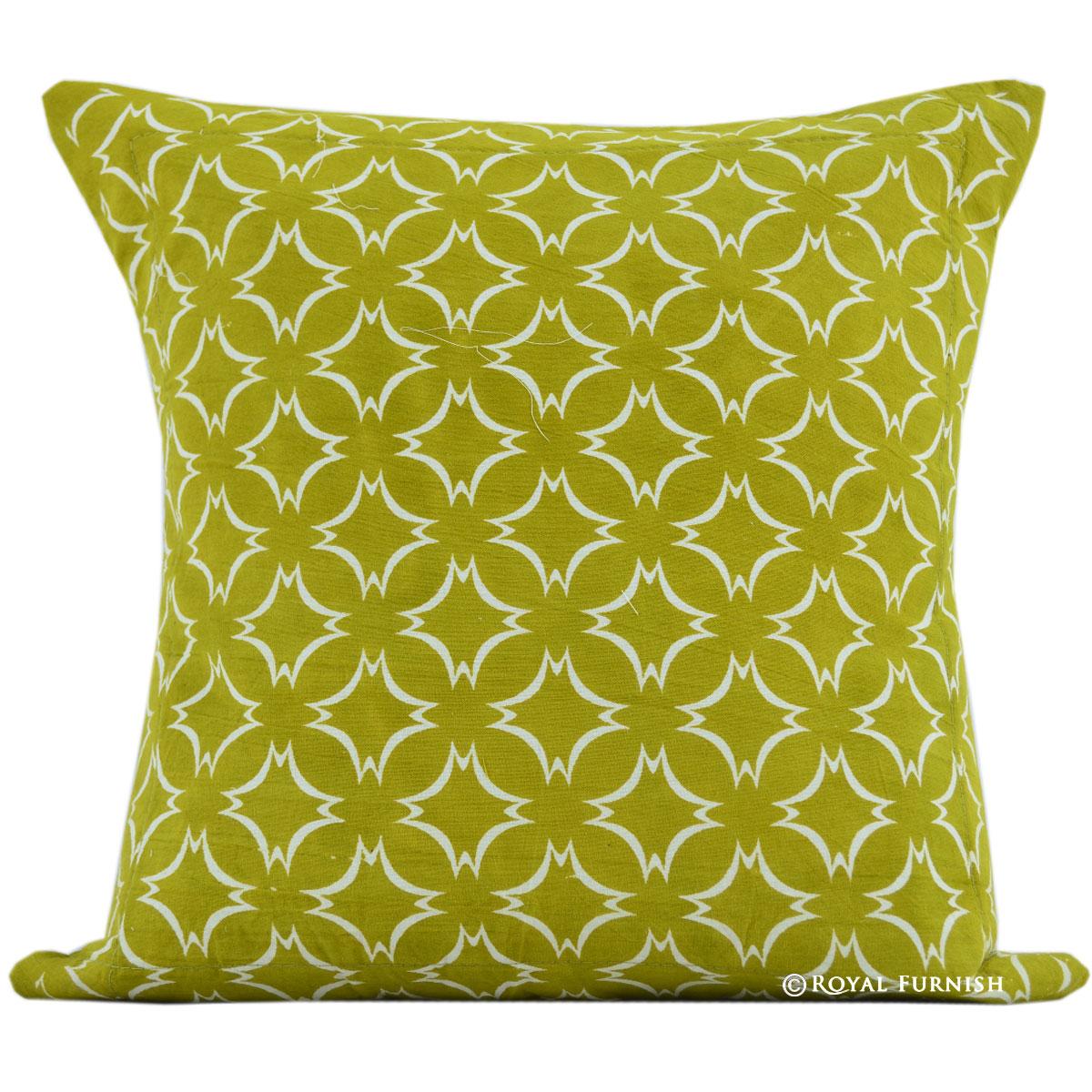 16 Quot Green Spark Design Indian Hand Block Print Cotton