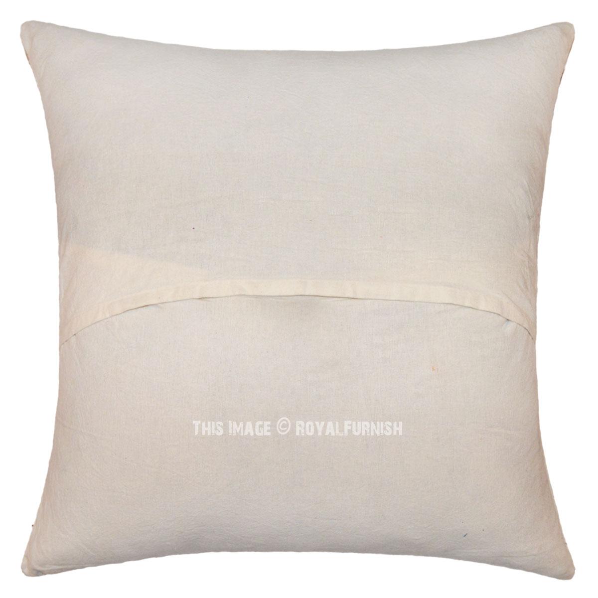 16 Quot Pink Small Flower Print Indian Hand Block Toss Pillow