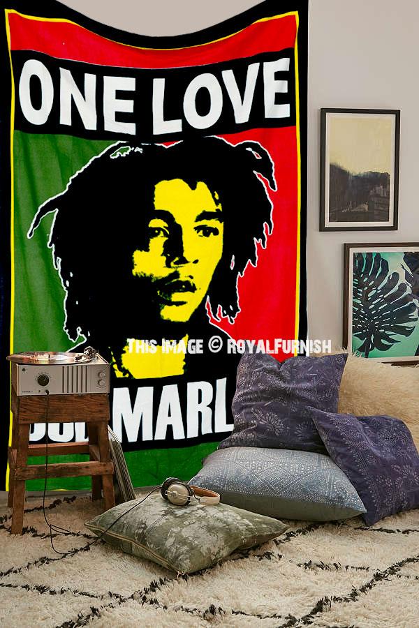 Bob Marley Rasta Reggae Jamaican Tapestry Wall Hanging