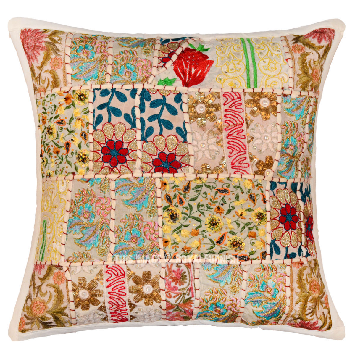 decorative throw pillows 16x16 white multi decorative patchwork throw pillow cover 10052