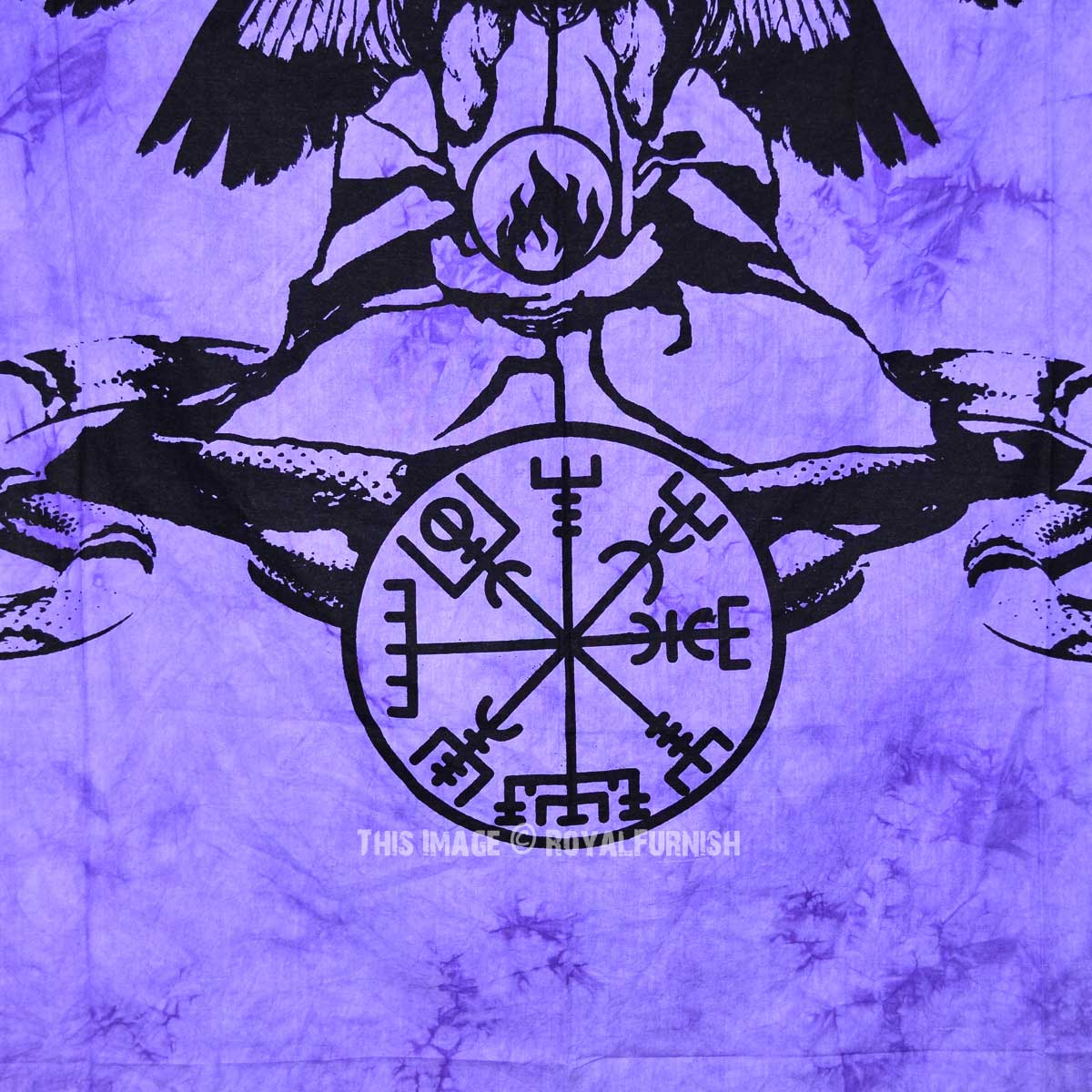 Purple Purple Black Magic Women Tie Dye Wall Tapestry