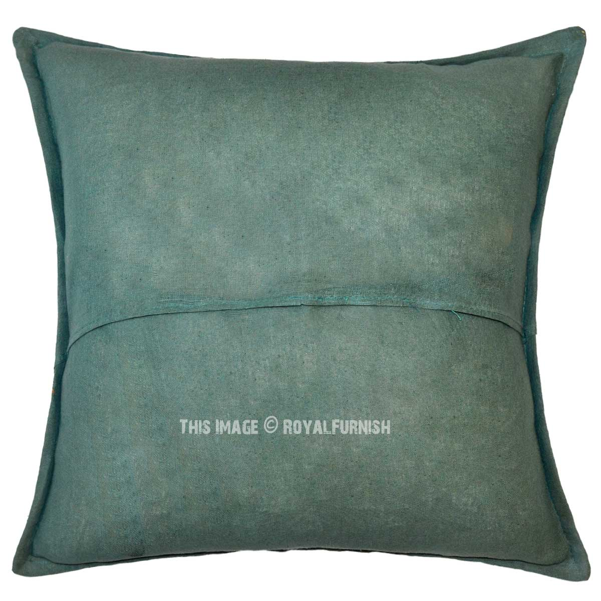 dark green sequin needlepoint patchwork embroidered cotton pillow cover 16x16. Black Bedroom Furniture Sets. Home Design Ideas