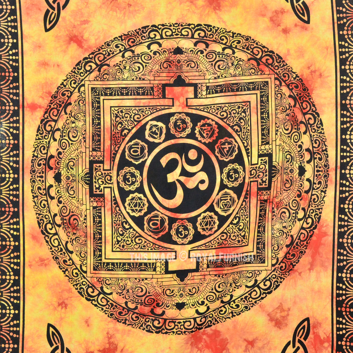 Multi Om Aum Tapestry Wall Hanging Yoga Meditation Room