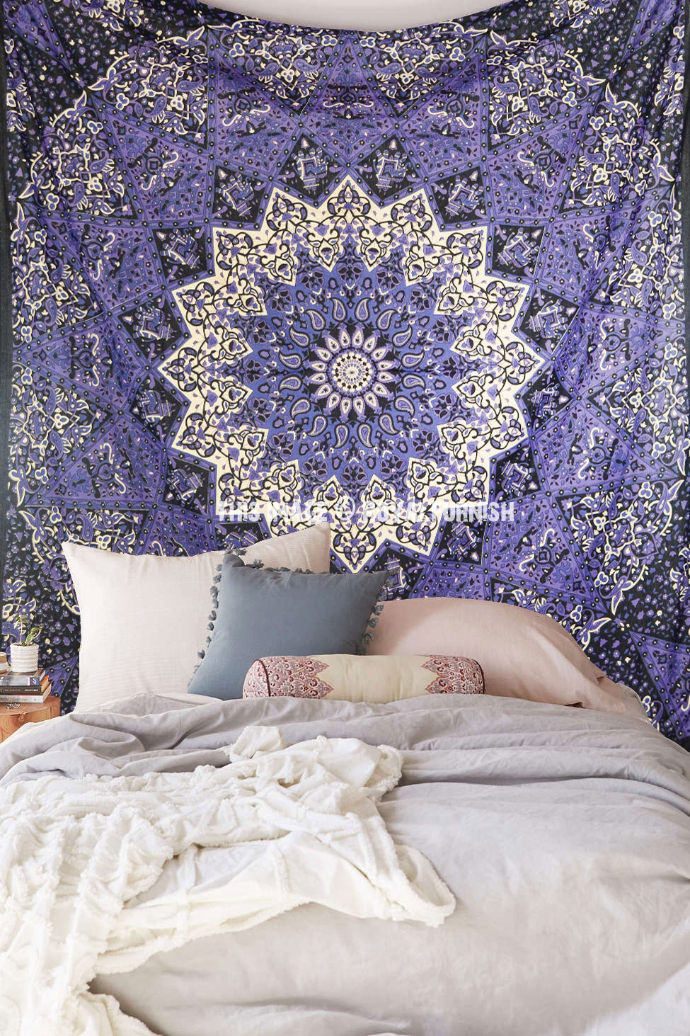 Colorful 3 D Star Mandala Tapestry, College Dorm