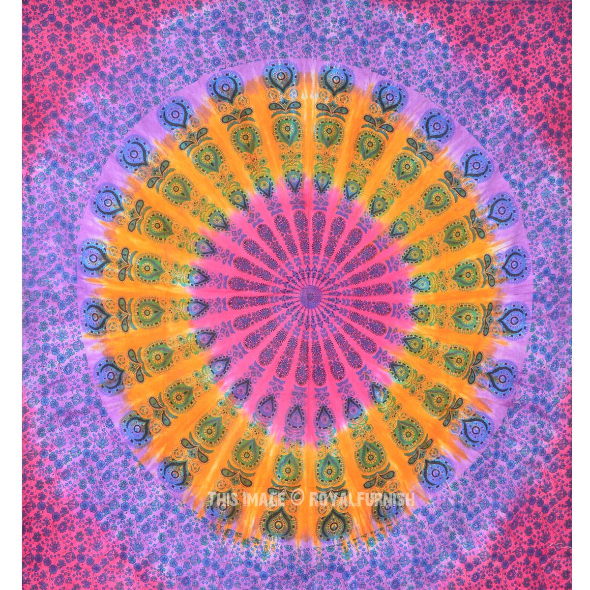 Mandala Tie Dye Tapestry Wall Hanging Bed Sheet