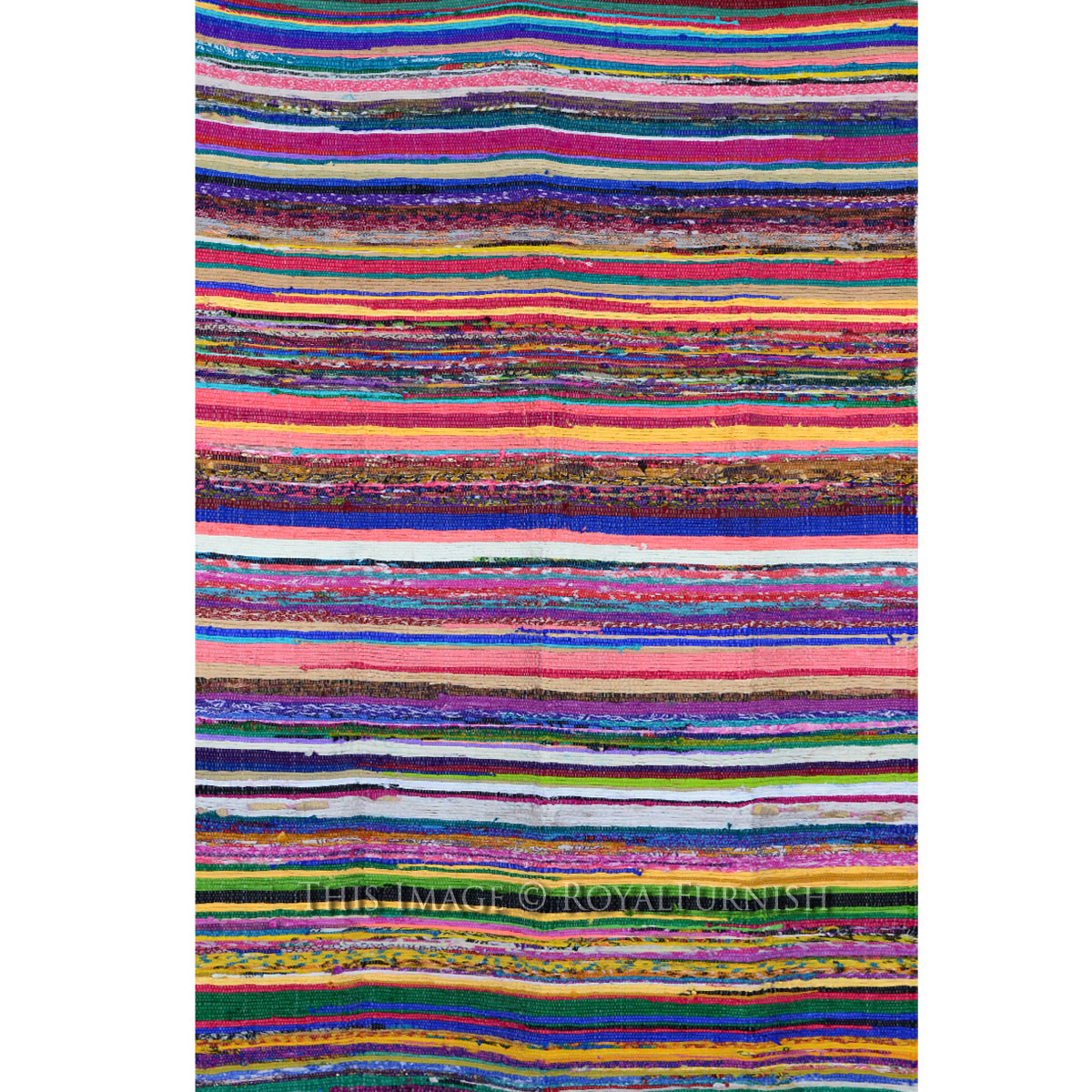3 6 Quot X 6 5 Quot Ft Multicolor Recycled Cotton Chindi Rug Rug