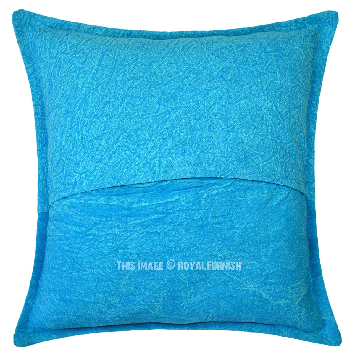 Throw Pillows With Stars : Turquoise Blue Decorative Star Mirrored Square Throw Pillow Cover 16X16 - RoyalFurnish.com