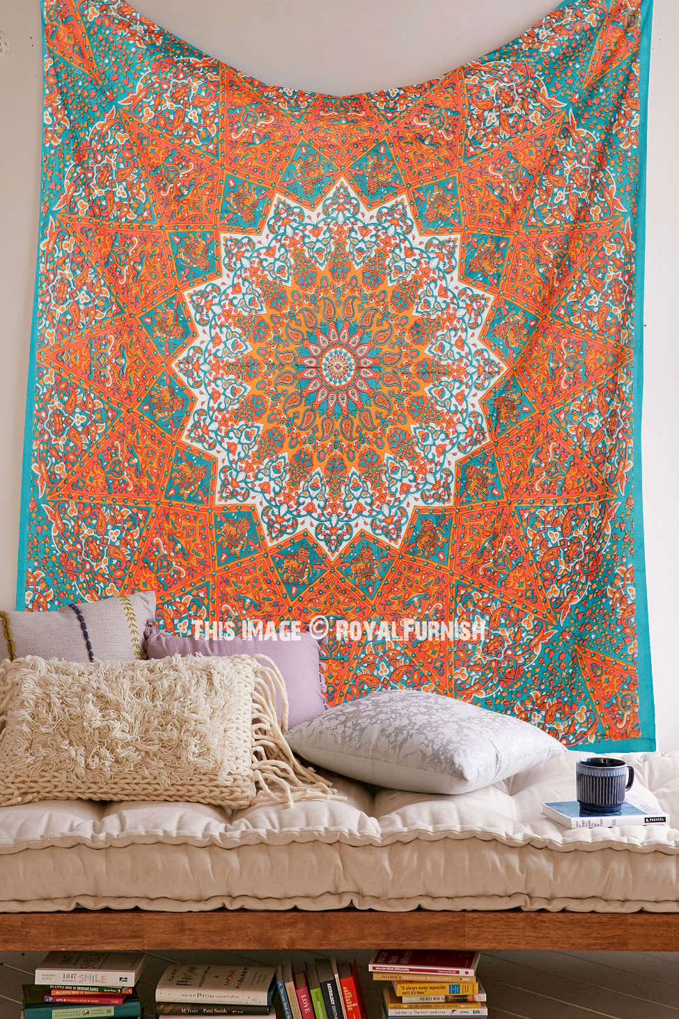 Large Multicolor Bohemian Boho Style Star Mandala Tapestry