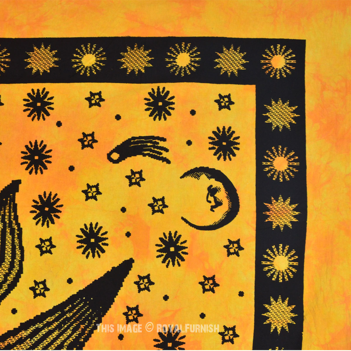 Yellow Queen Size Sublime Sun Tapestry Wall Hanging Bedding ...