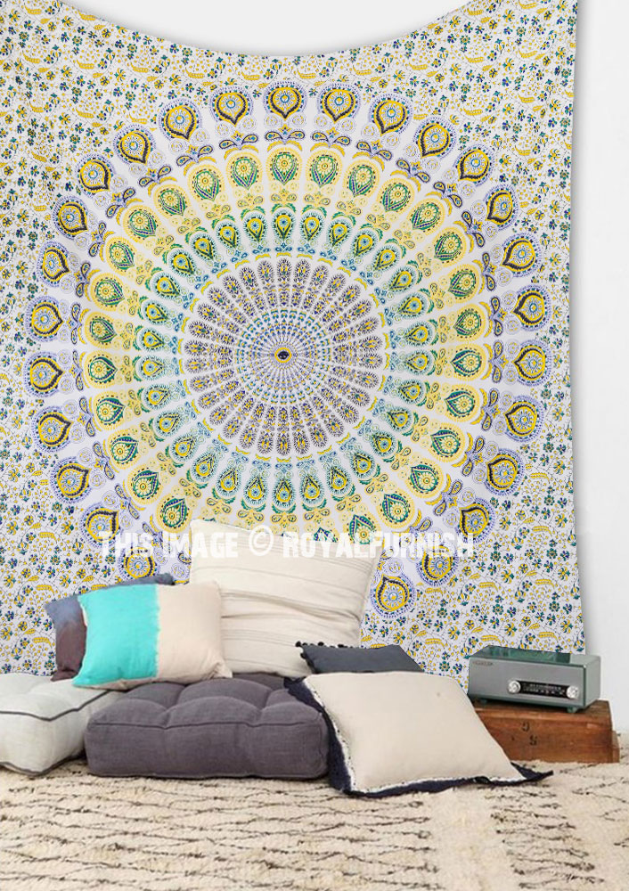 Psychedelic Dorm Bedroom Mandala Wall Tapestry Cotton