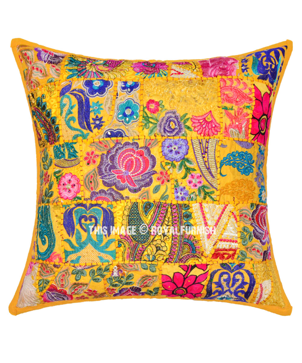 Decorative And Accent Yellow Boho Chic Style Throw Pillow