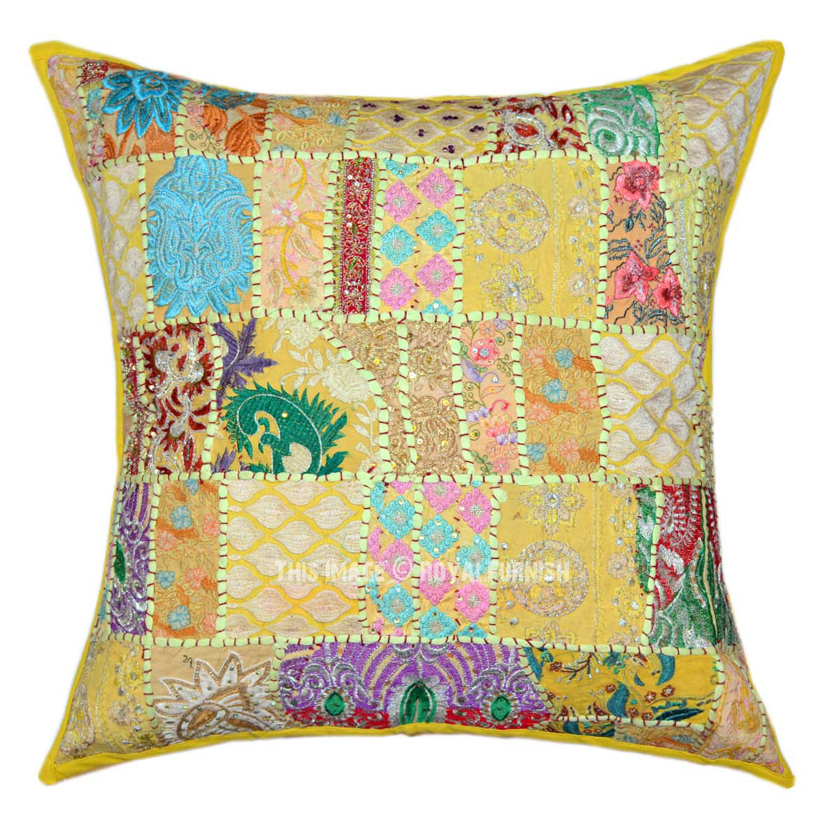 Big Yellow Decorative Pillows : 24X24