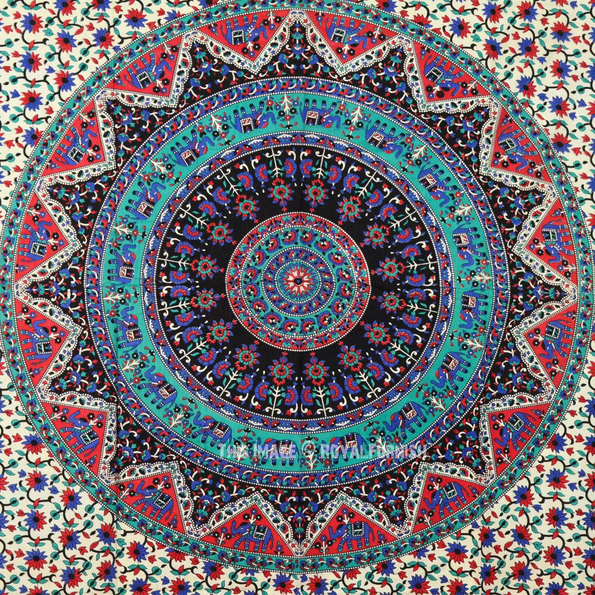 Multi Kerala Paisley Bohemian Mandala Tapestry Wall ...