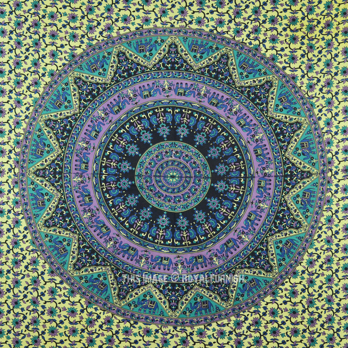 Plum Amp Bow Bohemian Star Medallion Tapestry Hippie Wall