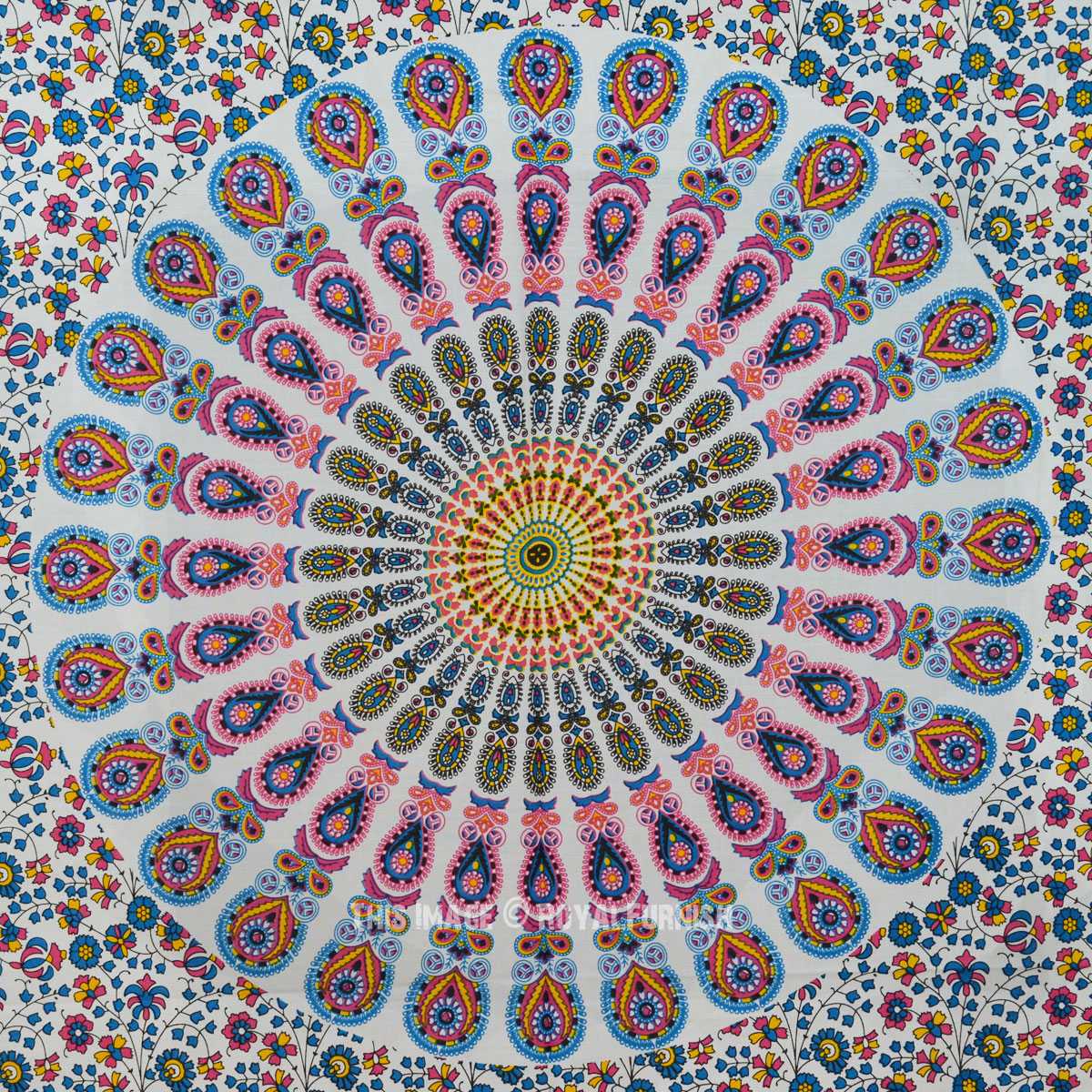 Multi Cool Colorful Medallion Poster Size Tapestry