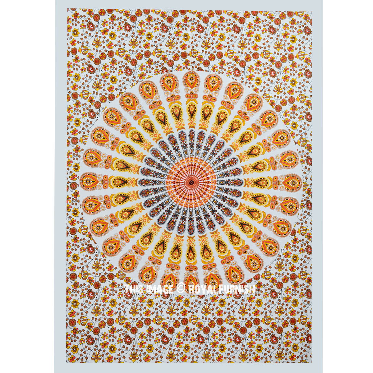 Yellow Colorful Cloth Fabric Mandala Poster Tapestry