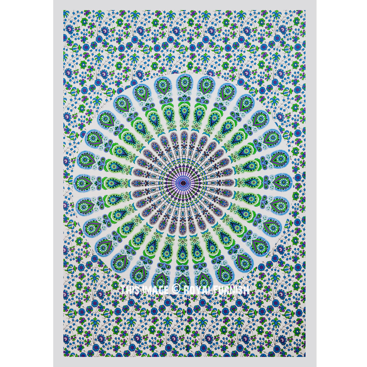 Colorful Fabric Cloth Mandala Poster Size Tapestry
