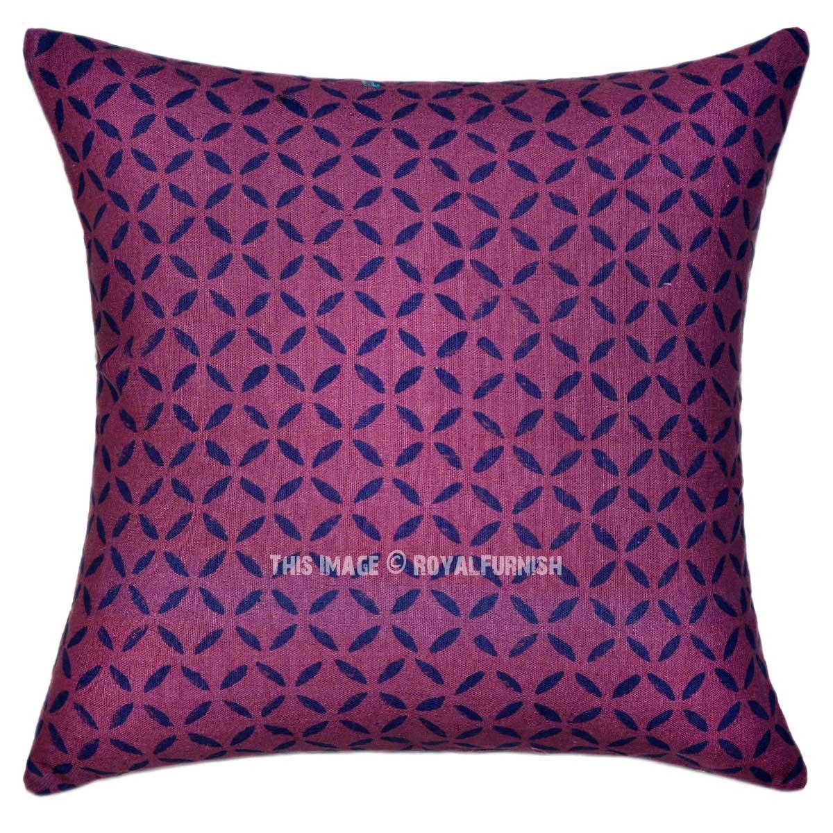 Purple Geometric Modern/Contemporary Canvas Throw Pillow