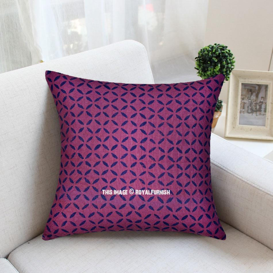 Purple Geometric Modern Contemporary Canvas Throw Pillow