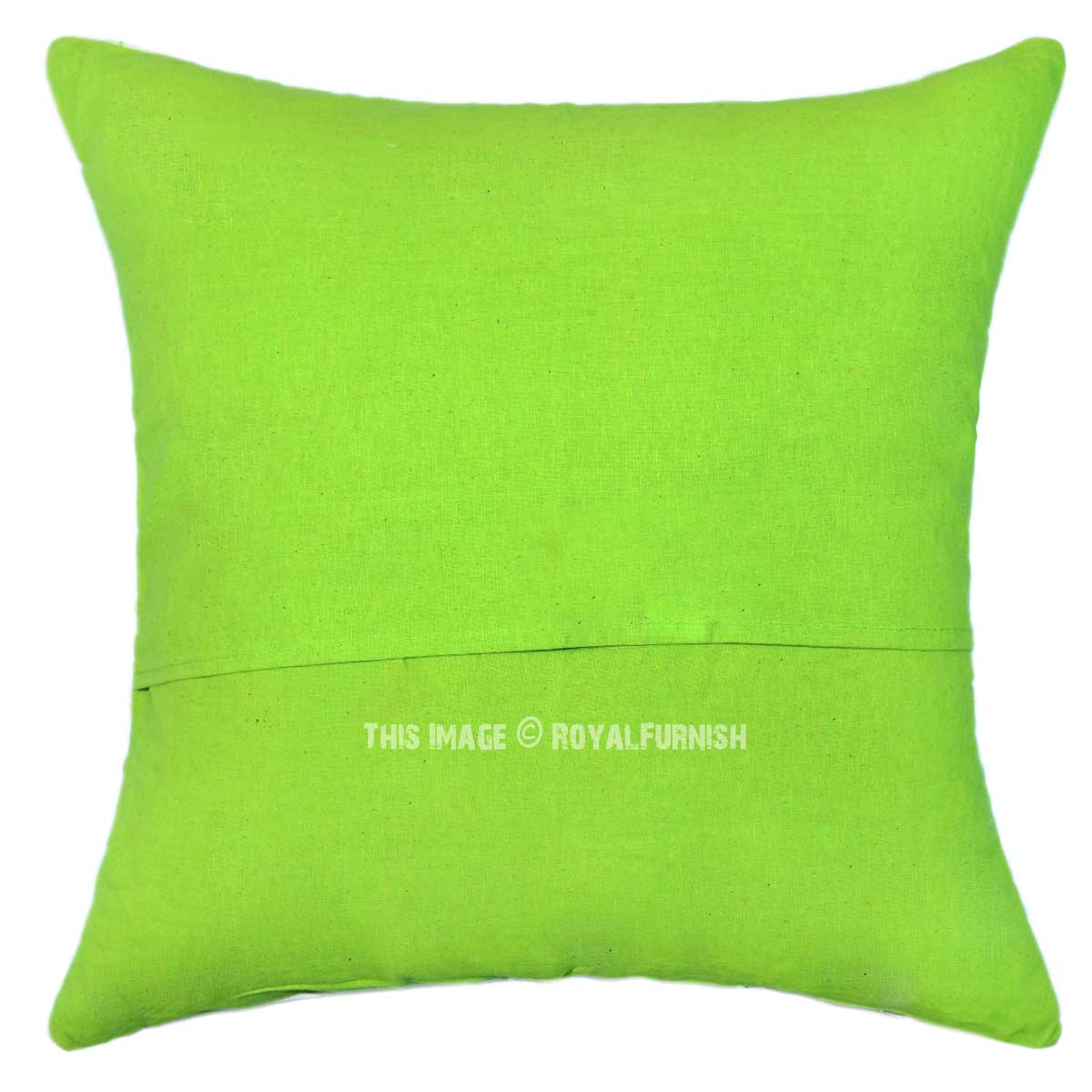 16 x 16 parrot green decorative zig zag ikat throw pillow cover. Black Bedroom Furniture Sets. Home Design Ideas