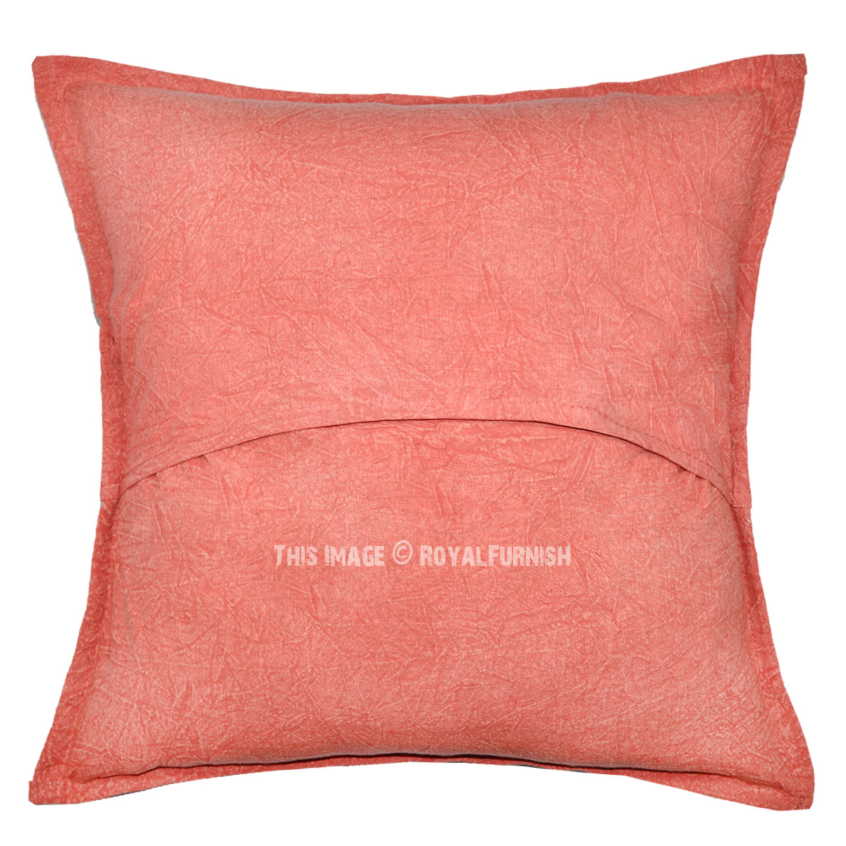 Pink Indian Mirror Decorative Cotton Throw Cushion Cover ...