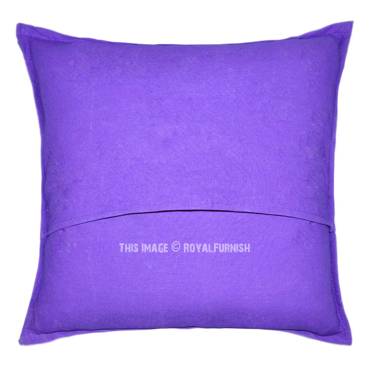 Throw Me A Pillow Coupon Code : Purple One-Of-A-Kind Unique Bohemian Patchwork Throw Pillow Case 18X18 - RoyalFurnish.com