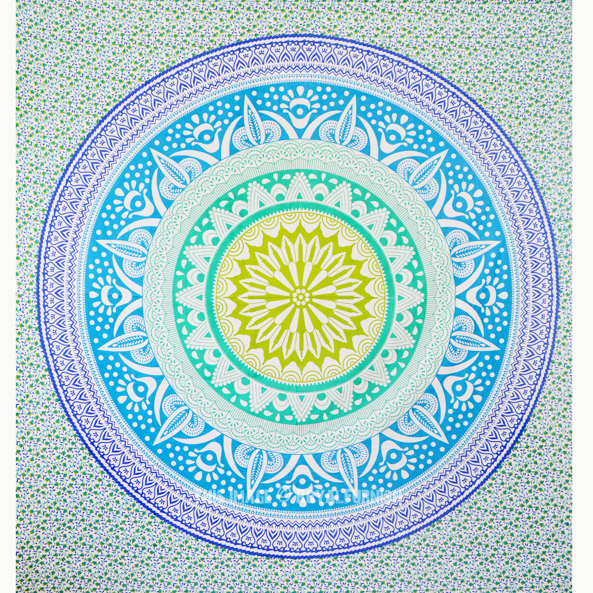 colorful trippy ombre medallion mandala tapestry wall hanging