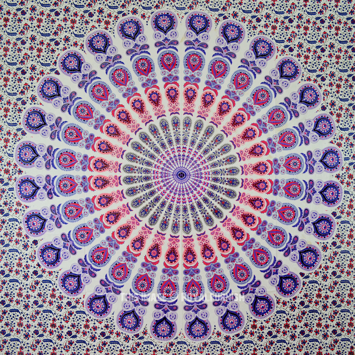 blend of purple amp white peafowl psychedelic mandala