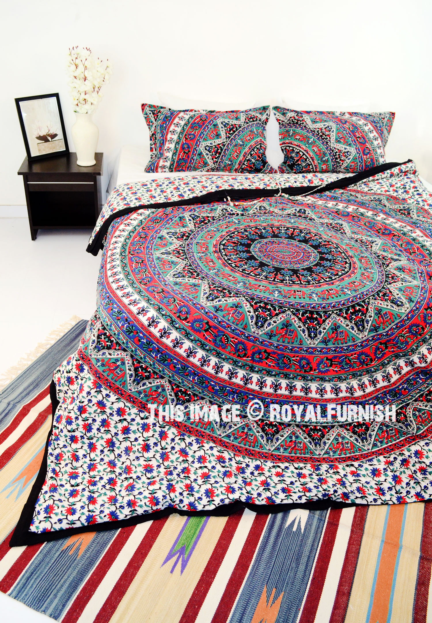 collection cotton patchwork bedding bohemian detail set product quilt our real dada reversible partners