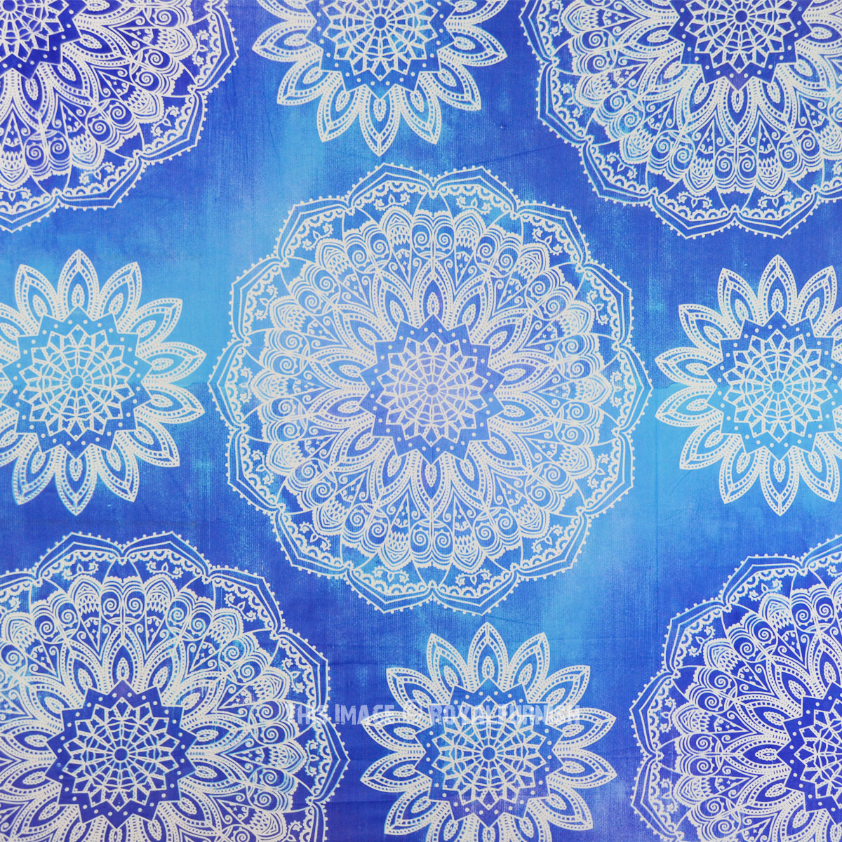 Blue Amp Turquoise Prismatic Medallion Mandala Galaxy