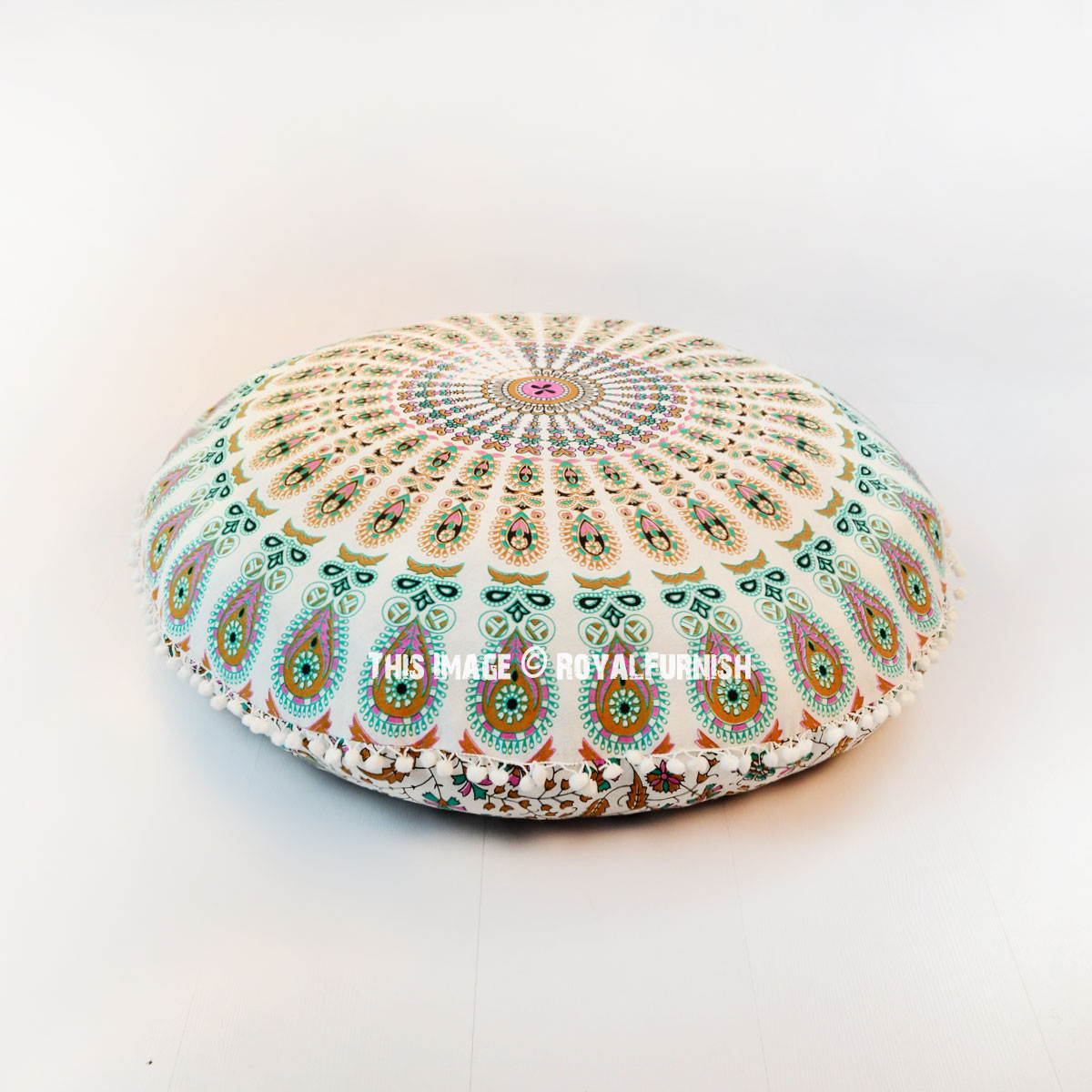 Multi Medallion Mandala Round Floor Pillow Cover 32 Quot Inch