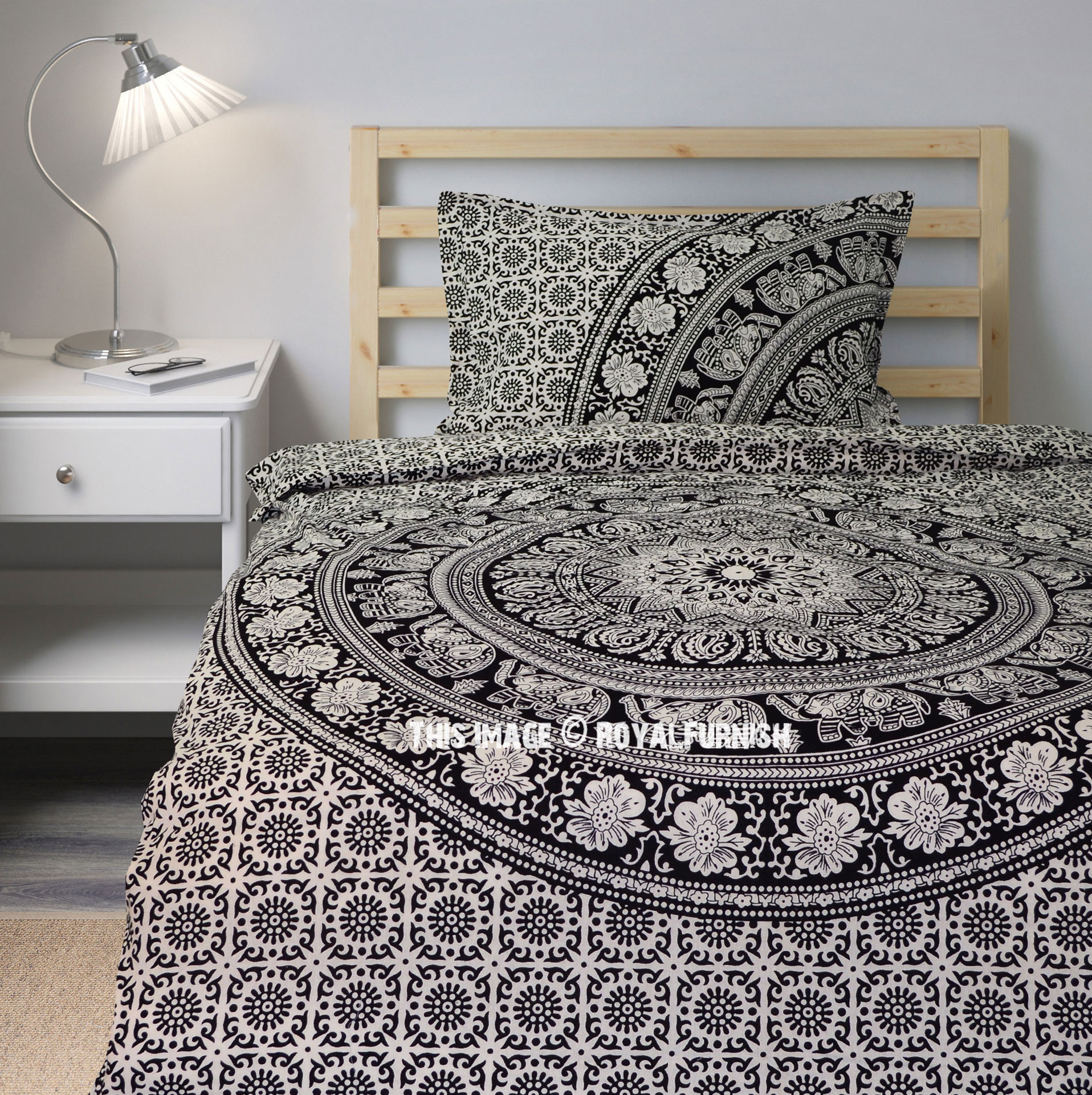 Black Amp White Boho Boutique Mandala Bedding Duvet Cover