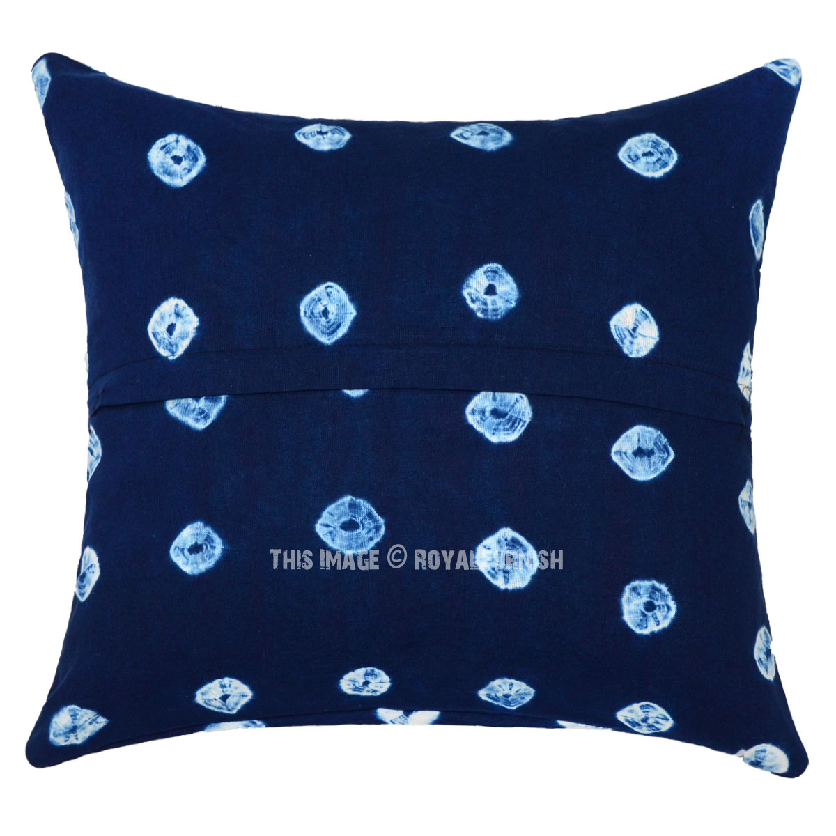 Blue Medallion Outdoor Throw Pillows Square