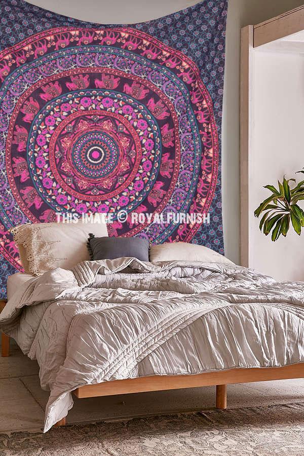 Pink Purple Indian Elephant Amp Camel Medallion Design Dorm