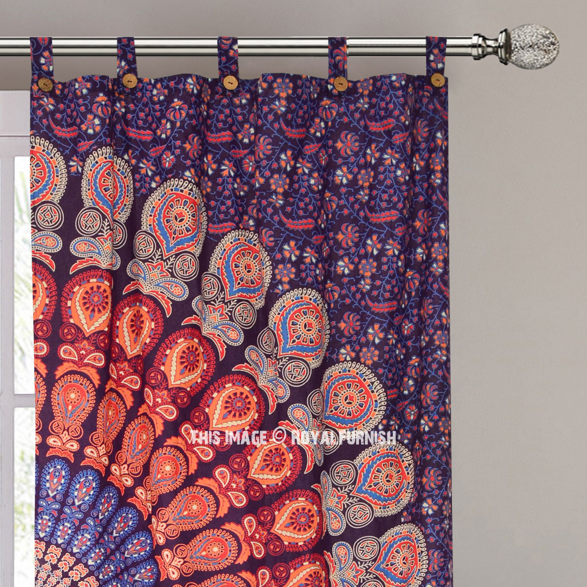 Purple Multicolor Cool Floral Mandala Hippie Tapestry