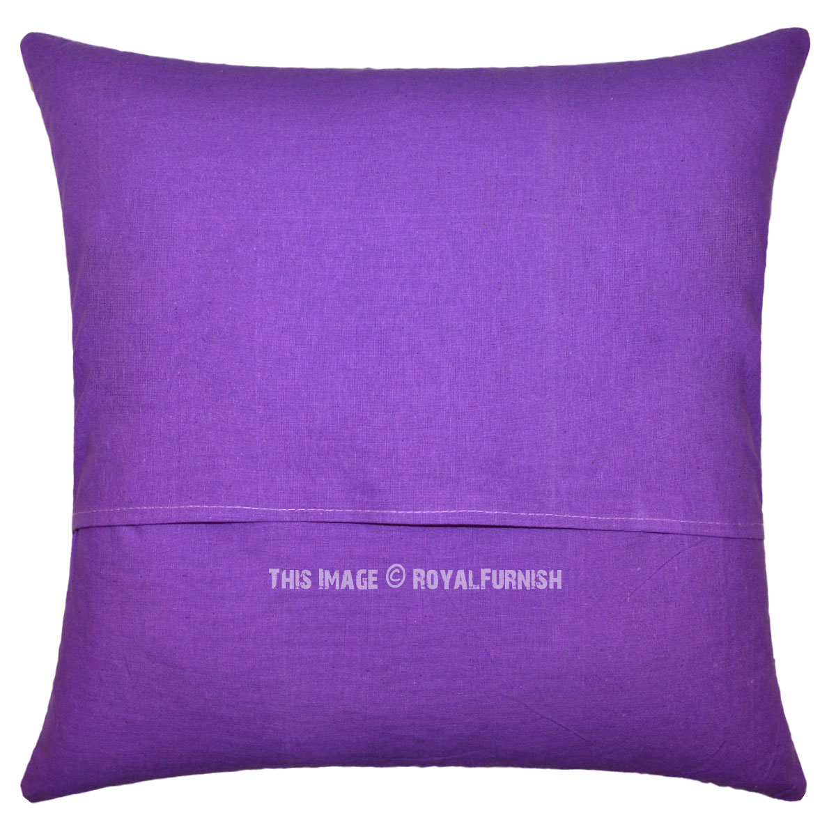 Oversized Decorative Pillow Covers : Large Purple Decorative Paisley Pattern Cotton Throw Pillow Cushion Cover - RoyalFurnish.com
