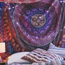 Purple Plum & Bow Medallion Mandala Hippie Tapestry Bohemian Wall Hanging